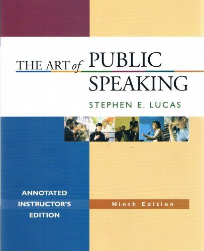 Art of Public Speaking  9th 2007 edition cover