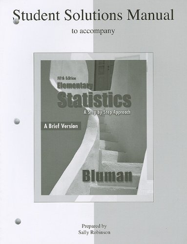 Elementary Statistics  5th 2010 edition cover