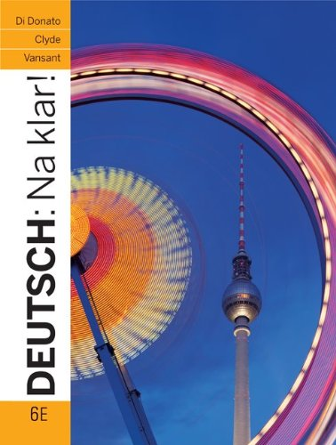 Deutsch Na Klar! 6th 2012 (Student Manual, Study Guide, etc.) 9780073386331 Front Cover