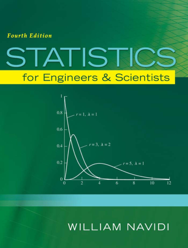 Statistics for Engineers and Scientists  4th 2015 9780073401331 Front Cover