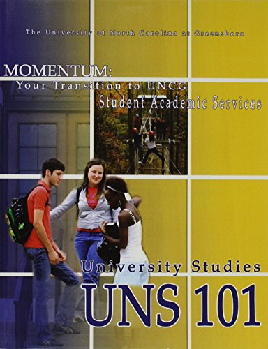 Momentum Your Transition to Uncg 9th (Revised) 9780757576331 Front Cover