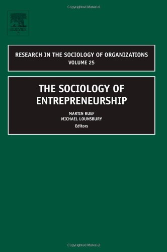 Sociology of Entrepreneurship   2007 9780762314331 Front Cover