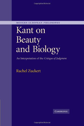 Kant on Beauty and Biology An Interpretation of the 'Critique of Judgment'  2010 9780521172332 Front Cover