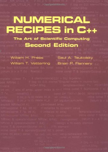 Numerical Recipes in C++ The Art of Scientific Computing 2nd 2002 (Revised) 9780521750332 Front Cover