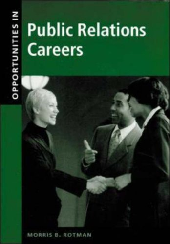 Opportunities in Public Relations Careers   2001 (Revised) 9780658016332 Front Cover