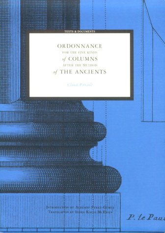 Ordonnance for the Five Kinds of Columns after the Method of the Ancients  N/A edition cover