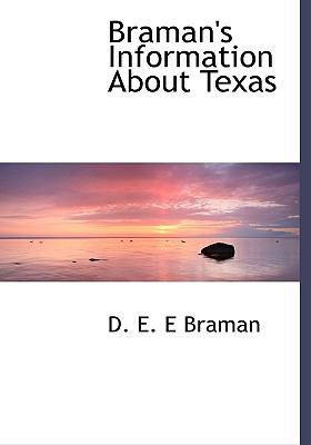 Braman's Information about Texas N/A 9781115226332 Front Cover