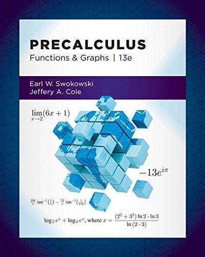 Cover art for Precalculus: Functions and Graphs, 13th Edition