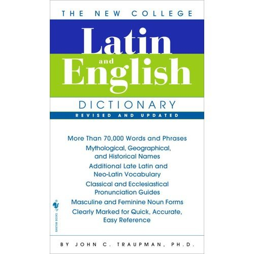 New College Latin and English Dictionary 3rd 2007 (Revised) edition cover