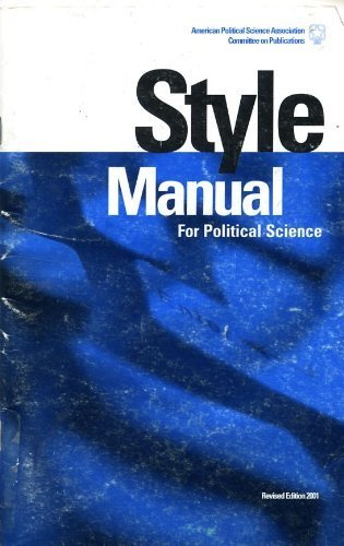 Style Manual for Political Science  2001 (Revised) edition cover
