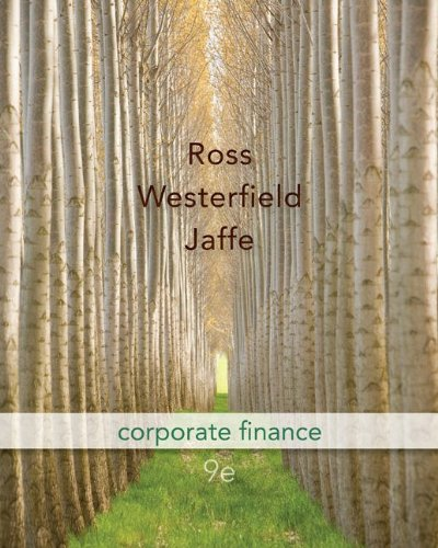 Corporate Finance 9th 2010 edition cover