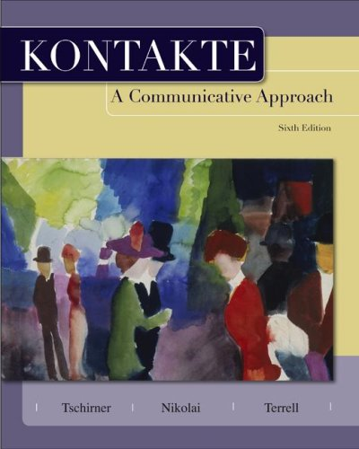 Kontakte A Communicative Approach 6th 2009 (Student Manual, Study Guide, etc.) edition cover