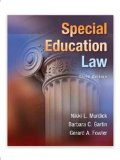 Special Education Law 3rd 2014 edition cover