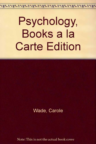 Psychology, Books a la Carte Edition  11th 2014 9780205873333 Front Cover