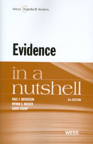 Evidence  6th 2012 (Revised) edition cover