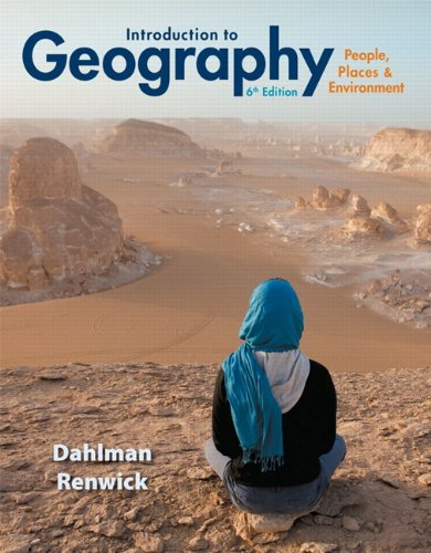 Introduction to Geography People, Places and Environment 6th 2014 9780321843333 Front Cover