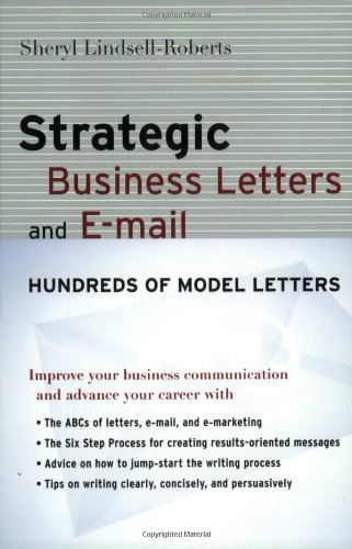 Strategic Business Letters and E-mail   2004 (Teachers Edition, Instructors Manual, etc.) edition cover