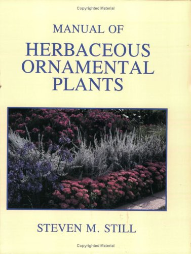 Manual of Herbaceous Ornamental Plants 4th 1994 edition cover