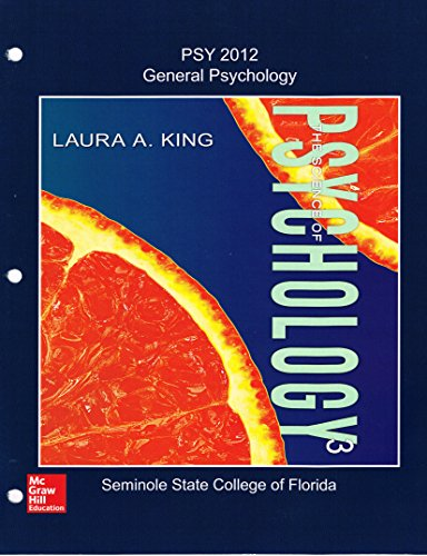 SCIENCE OF PSYCHOLOGY (LL) >CUSTOM<     N/A 9781259431333 Front Cover