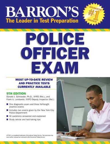Barron's Police Officer Exam, 9th Edition  9th 2013 (Revised) edition cover
