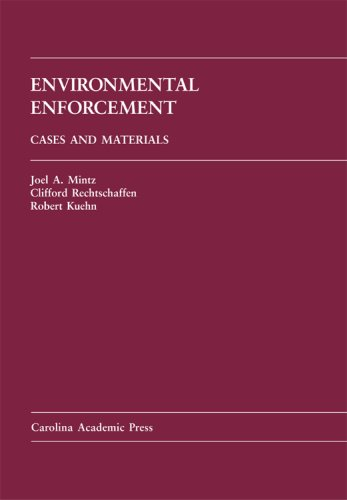 Environmental Enforcement Cases and Materials  2007 9781594600333 Front Cover