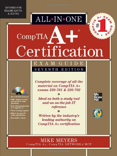 CompTia A+ Certification  7th 2010 9780071701334 Front Cover