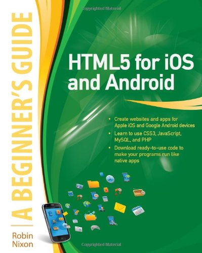 HTML5 for iOS and Android   2011 edition cover