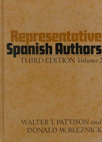 Representative Spanish Authors  3rd 1971 (Revised) 9780195014334 Front Cover