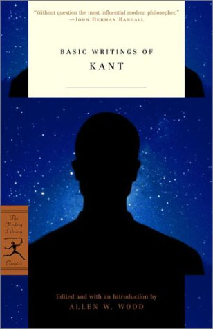 Basic Writings of Kant   2001 edition cover