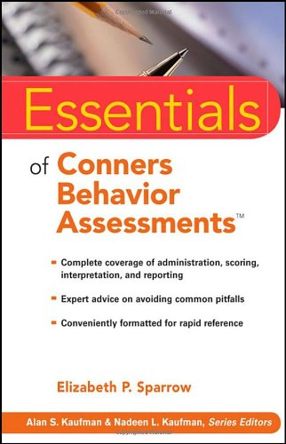 Essentials of Conners Behavior Assessments   2009 edition cover