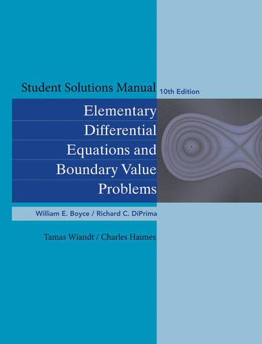 Elementary Differential Equations and Boundary Value Problems  10th 2013 edition cover