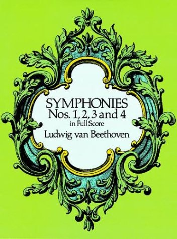 Symphonies Nos. 1, 2, 3 and 4 in Full Score  N/A edition cover