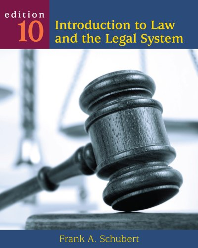 Introduction to Law and the Legal System  10th 2012 edition cover