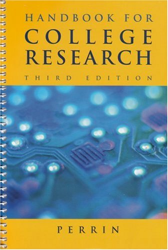 Handbook for College Research  3rd 2005 edition cover