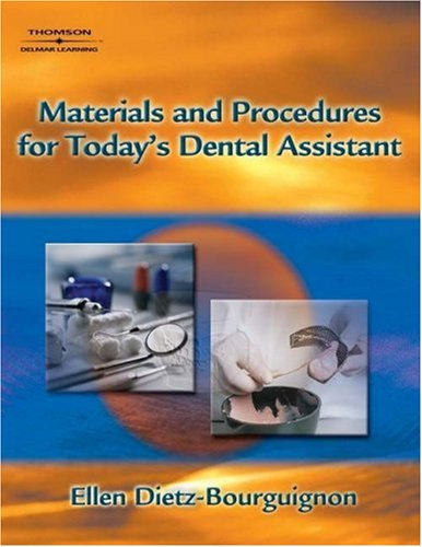 Materials and Procedures for Today's Dental Assistant   2006 edition cover