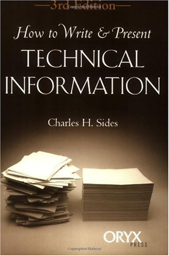 How to Write and Present Technical Information  3rd 1999 edition cover