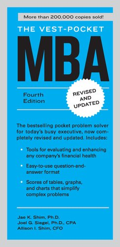 Vest-Pocket MBA  4th 2012 (Revised) 9781591844334 Front Cover