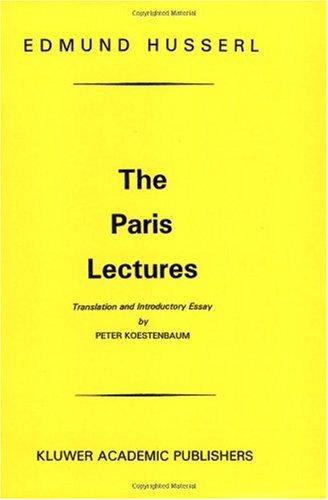 Paris Lectures   1998 edition cover