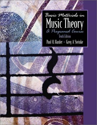 Basic Materials in Music Theory A Programmed Course 10th 2003 edition cover