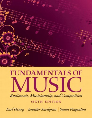 Fundamentals of Music Rudiments, Musicianship, and Composition 6th 2013 edition cover