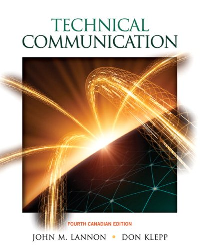 TECHNICAL COMMUNICATION >CANAD 4th 2008 edition cover