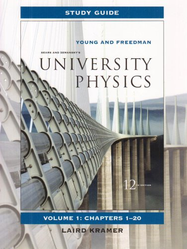 Study Guide for University Physics Vol 1  12th 2008 edition cover