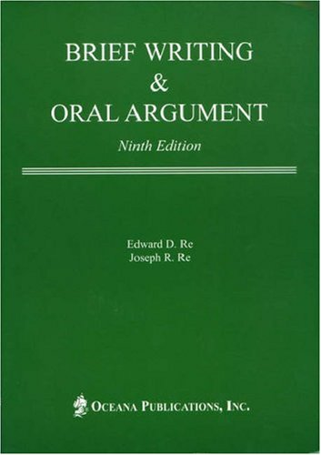 Brief Writing and Oral Argument  9th 2005 edition cover