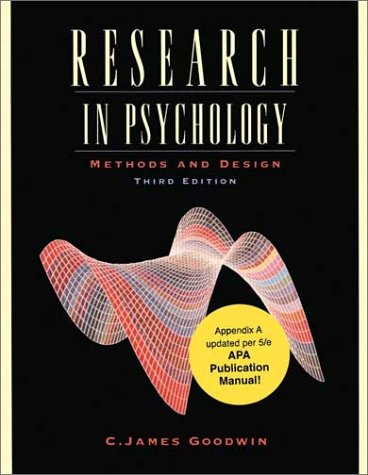 Research in Psychology Methods and Design, Update 3rd 2003 edition cover