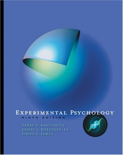Experimental Psychology  9th 2009 edition cover