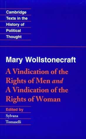 Vindication of the Rights of Men and a Vindication of the Rights of Woman   1995 edition cover