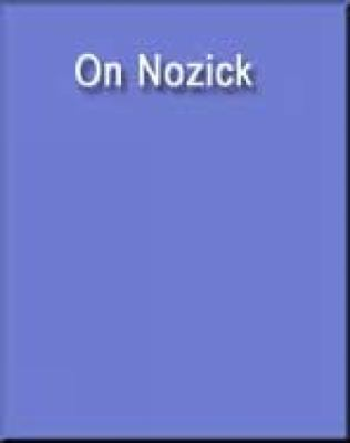 On Nozick   2004 9780534252335 Front Cover