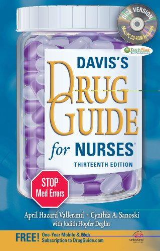 Davis's Drug Guide for Nurses + Resource Kit CD-ROM  13th (Revised) edition cover
