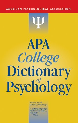 APA College Dictionary of Psychology   2009 edition cover
