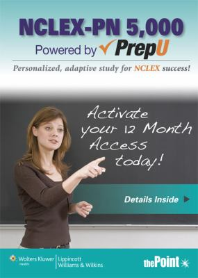 NCLEX-PN 5,000 Powered by PrepU   2013 edition cover
